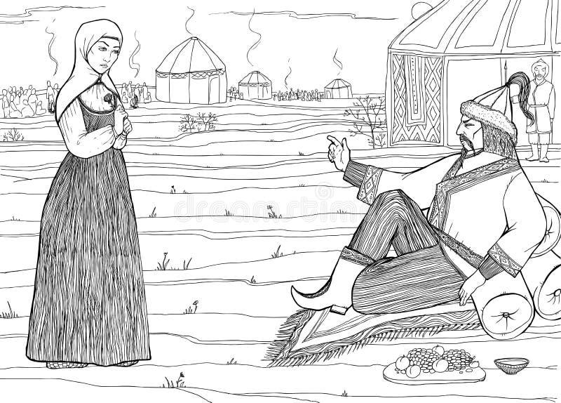 Wschodni władca rozkazy ilustracji