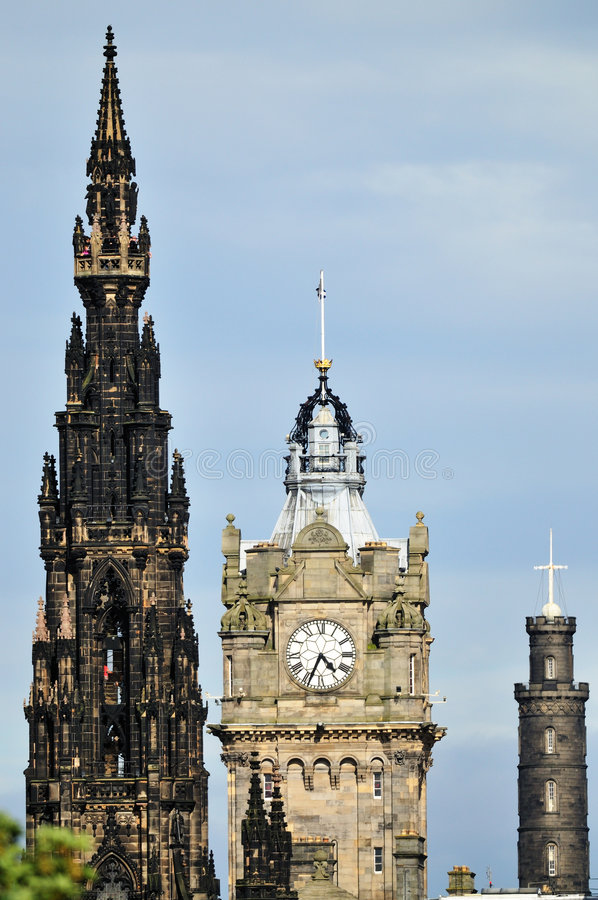 wschodnia Edinburgh końca linii horyzontu zdjęcie royalty free