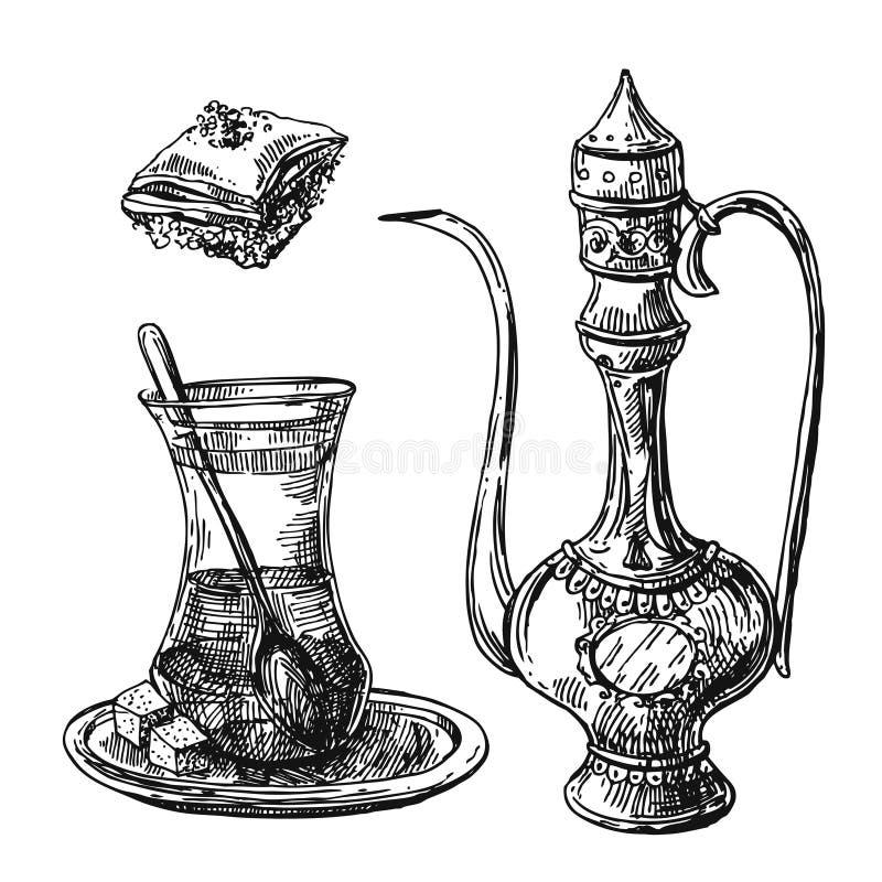 Wschodnia herbaciana ilustracja ilustracja wektor