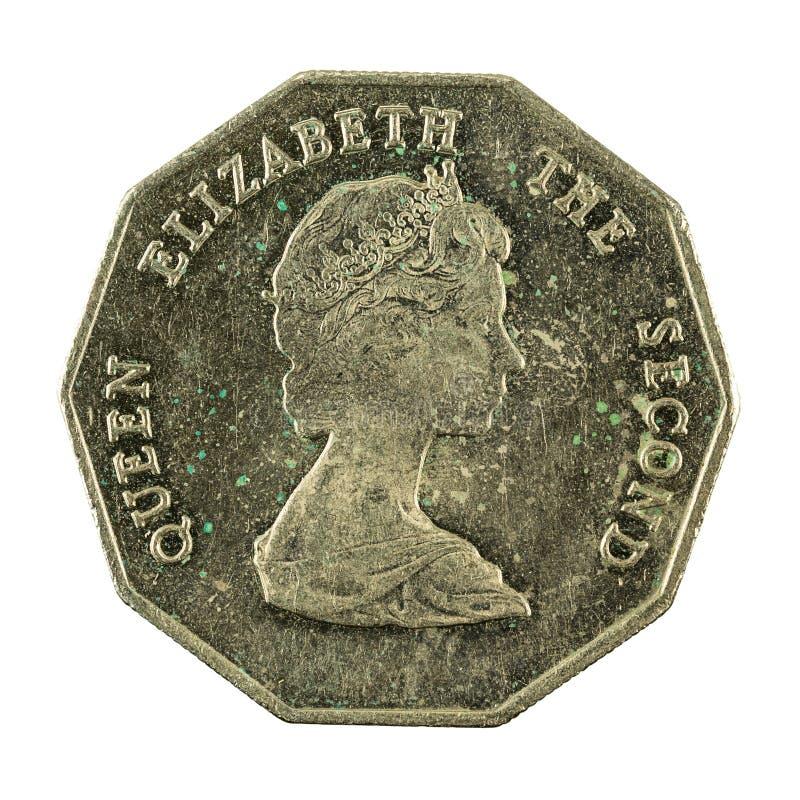 1 wschodnia karaibskiego dolara monety 1995 odwrotność zdjęcia stock