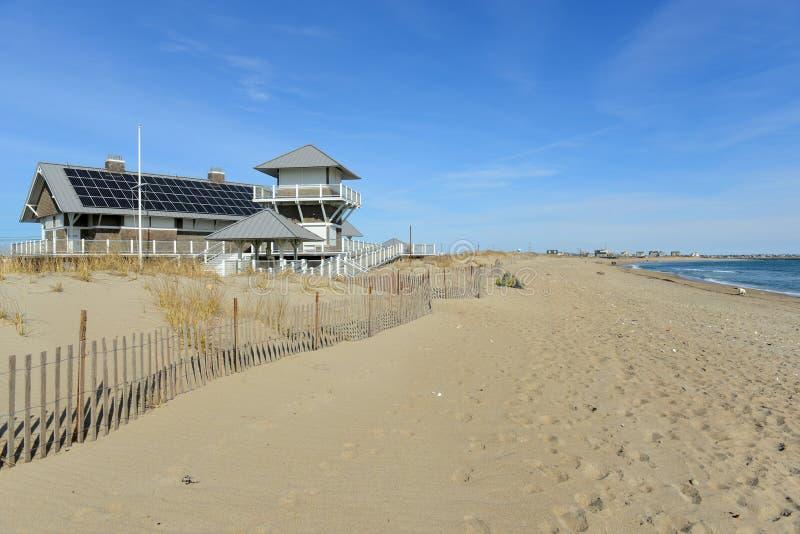 Wschodnia Matunuck stanu plaża, Południowy Kingstown, RI zdjęcia royalty free