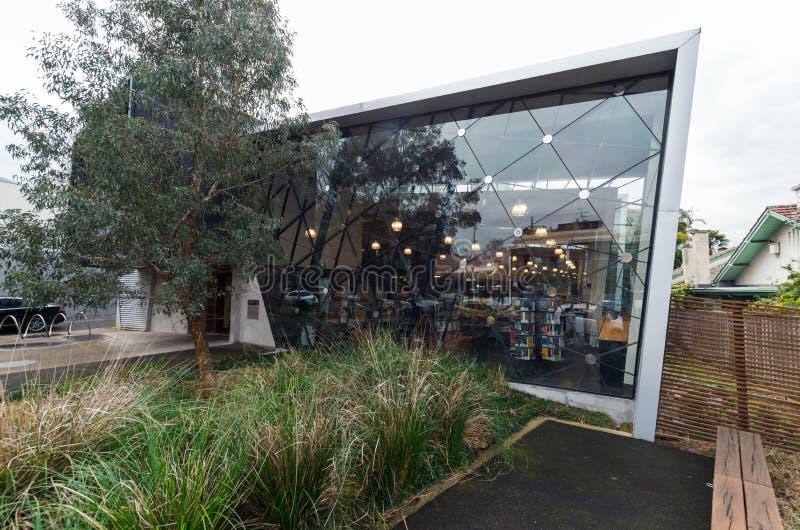 Wschodnia Melbourne biblioteka jest biblioteką publiczną w podupadłej części śródmieścia Melbourne zdjęcia stock