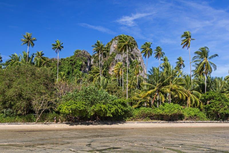 Wschodnia Railay plaża w Krabi prowincji Tajlandia obraz stock
