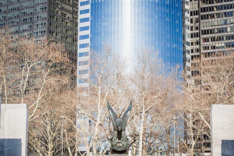 Wschodnie Wybrzeże pomnik przy Bateryjnym parkiem przy urządzenia profesjonalne najniższej klasy Nowy Jork zdjęcia stock