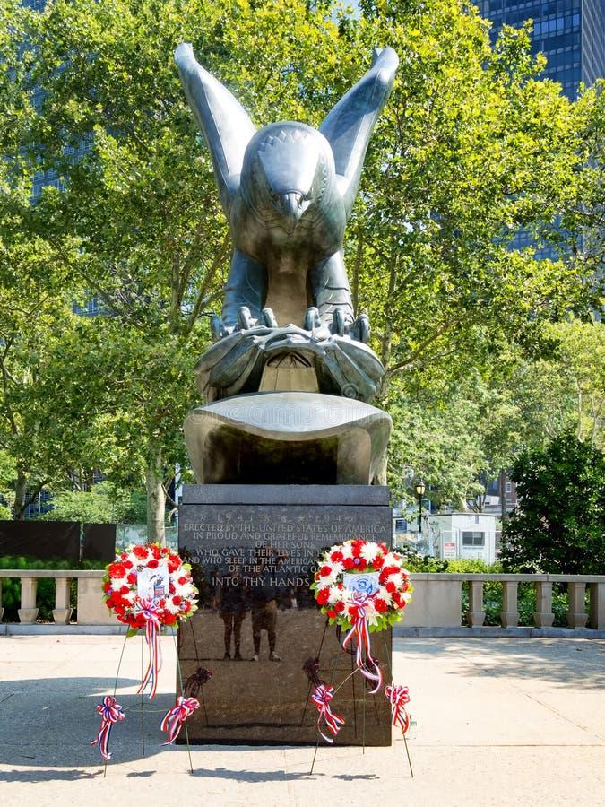 Wschodnie wybrzeże pomnik przy Bateryjnym parkiem w Nowy Jork zdjęcia stock