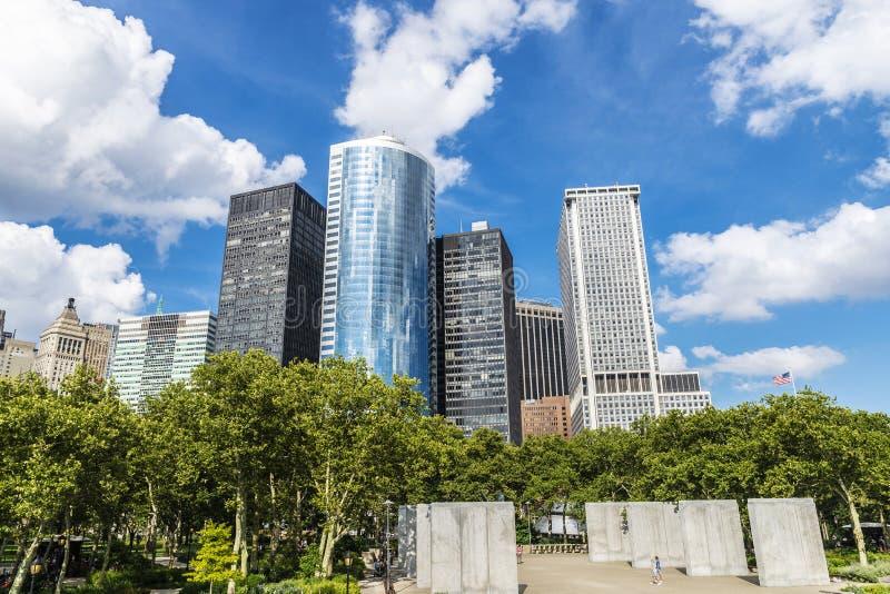Wschodnie Wybrzeże pomnik w Bateryjnym parku, Miasto Nowy Jork, usa fotografia stock