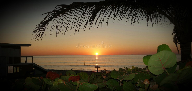 Wschodnie Wybrzeże wschód słońca zdjęcie royalty free