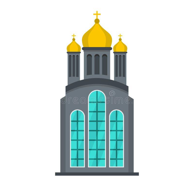 Wschodniego kościół ikona, mieszkanie styl ilustracji