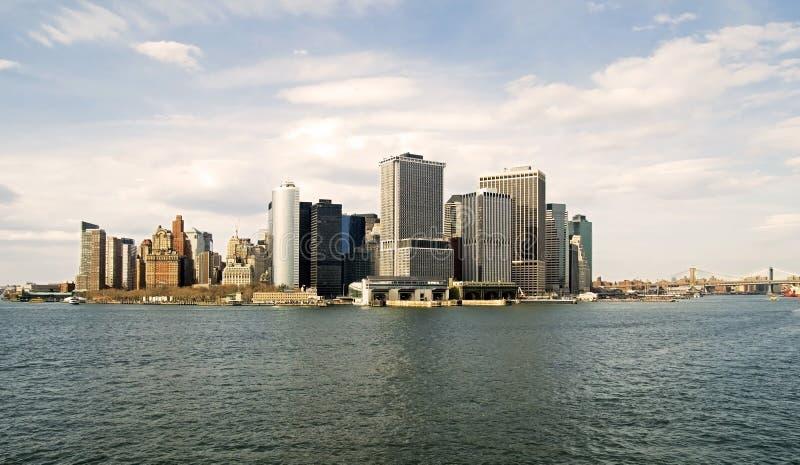 wschodu niska Manhattan rzeka fotografia royalty free