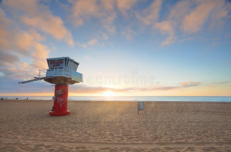 Wschodu słońca Avoca plaża obraz royalty free