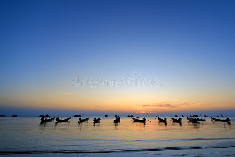 Wschodu słońca koh Tao obrazy stock