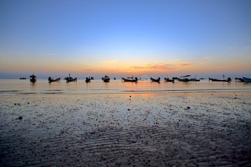Wschodu słońca koh Tao zdjęcie stock