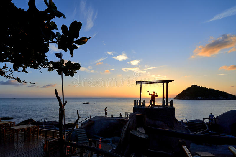 Wschodu słońca koh Tao obraz royalty free