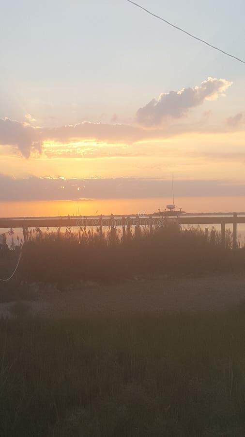 Wschodu słońca Long Beach wyspa NJ obrazy royalty free
