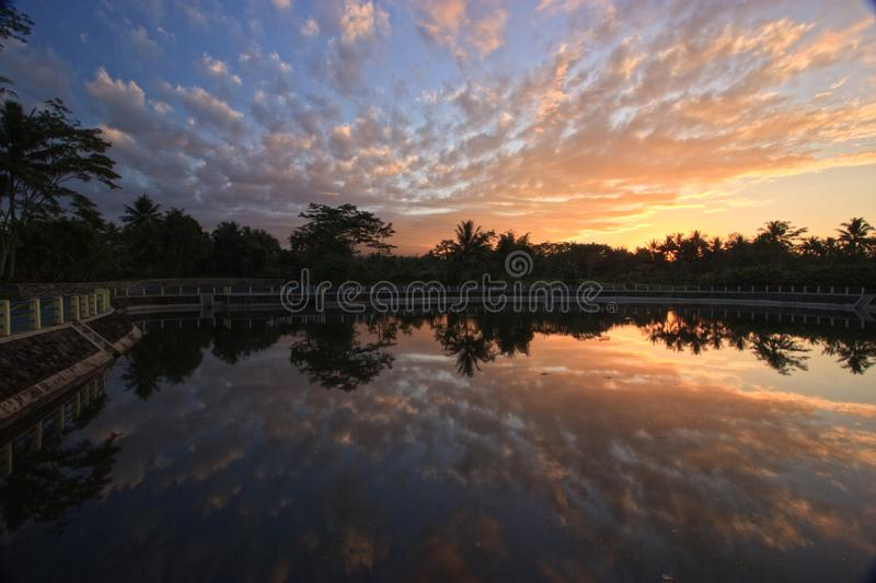 Wschodu słońca niebo obrazy stock