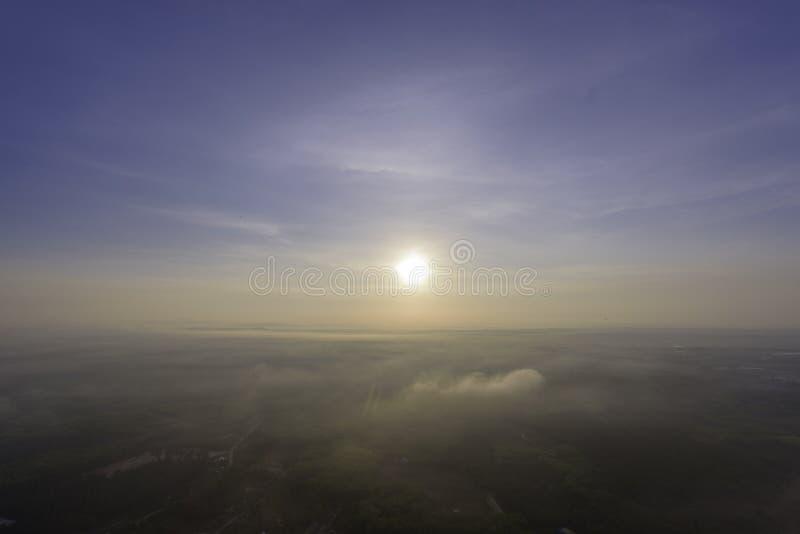 Wschodu słońca niebo na rano fotografia royalty free