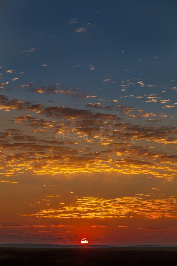 Wschodu słońca niebo nad St Marys obrazy royalty free