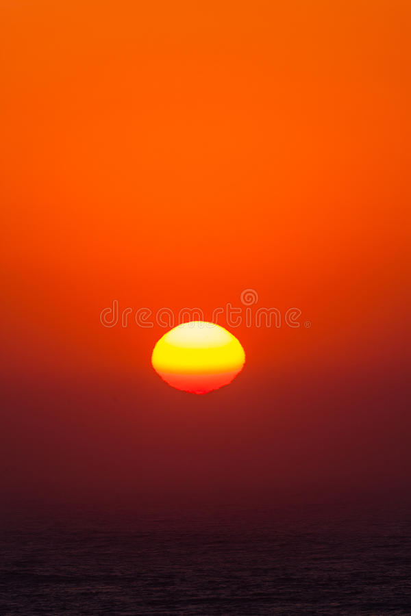 Wschodu słońca oceanu natury kolory