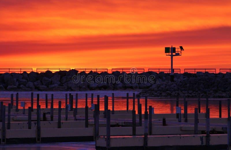Wschodu słońca ogień zdjęcia stock