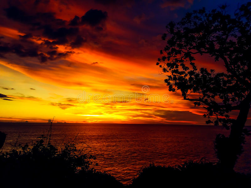 Wschodu słońca pantai kesirat gunung kidul zdjęcia stock