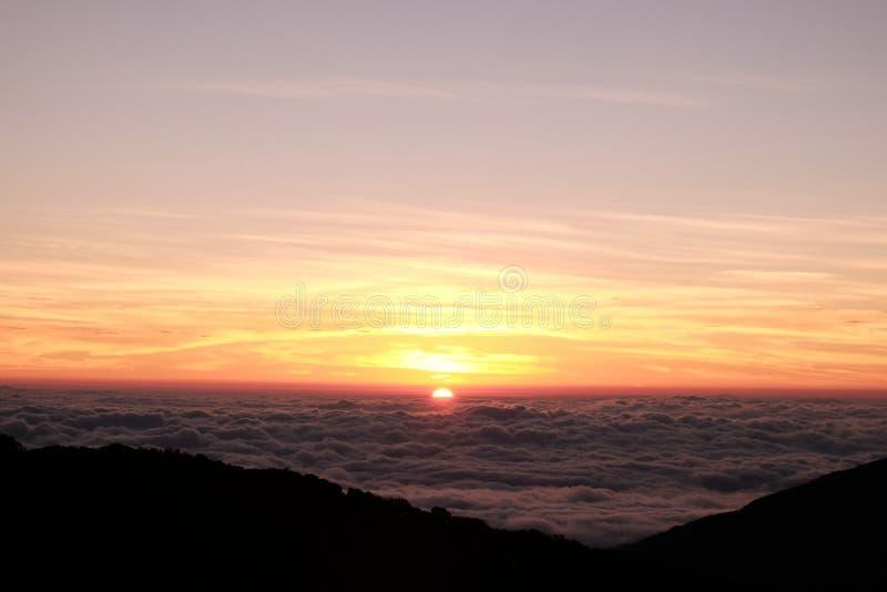 Wschodu słońca widok od Tajlandia fotografia stock