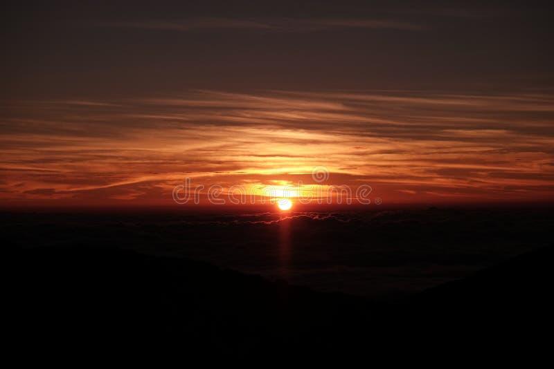 Wschodu słońca widok od Tajlandia obrazy royalty free