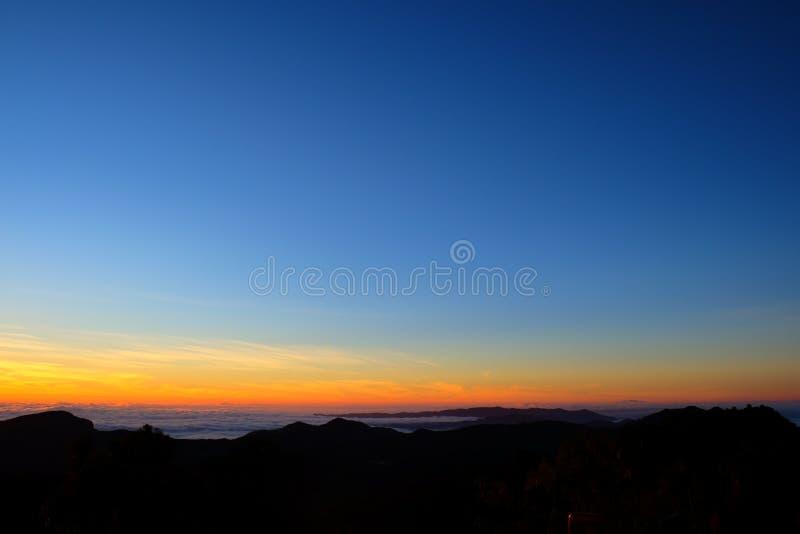 Wschodu słońca widok od Tajlandia obraz royalty free