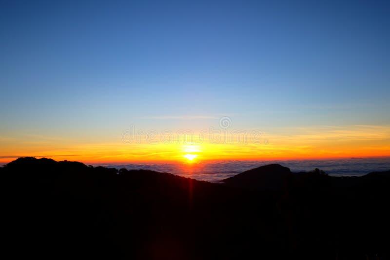 Wschodu słońca widok od Tajlandia zdjęcia royalty free