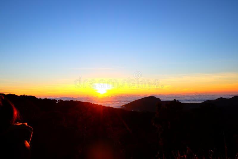 Wschodu słońca widok od Tajlandia obraz stock