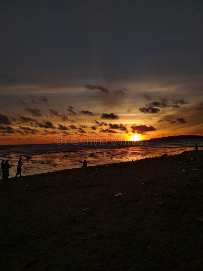 Wschodu słońca zmierzch obraz stock