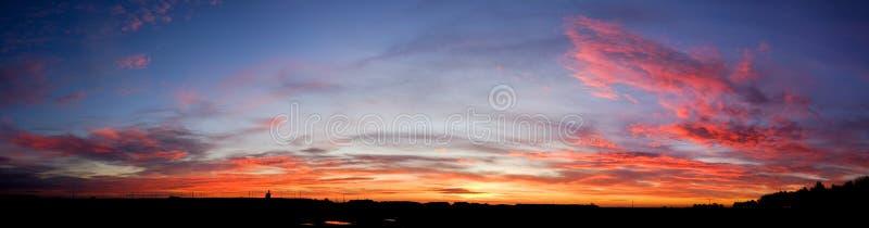 Wschodu słońca zmierzch nad Waddington fotografia royalty free