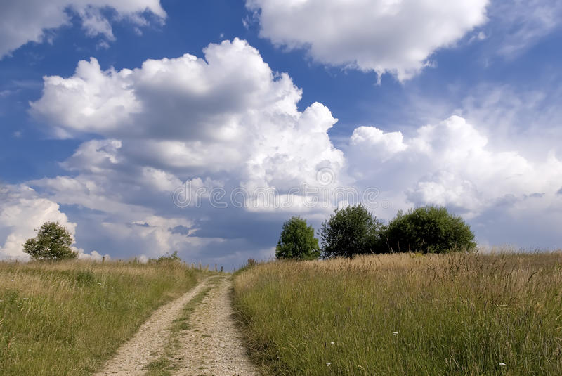 wsi droga obrazy stock