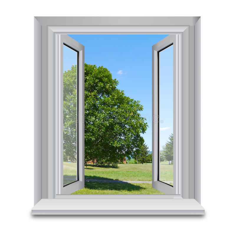 wsi otwarte okno obrazy royalty free