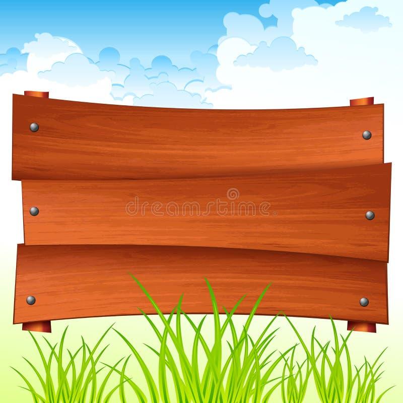 wsiada szyldowy drewnianego r?wnie? zwr?ci? corel ilustracji wektora royalty ilustracja