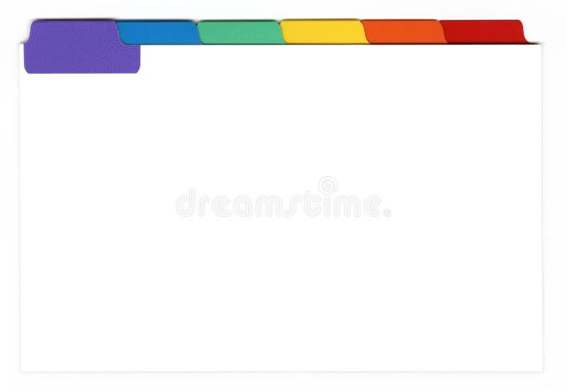 wskaźnik odizolowane karty obraz stock