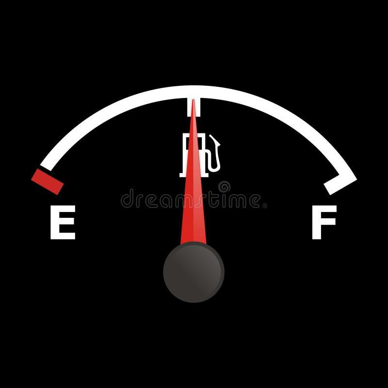wskaźnik paliwa ilustracja wektor