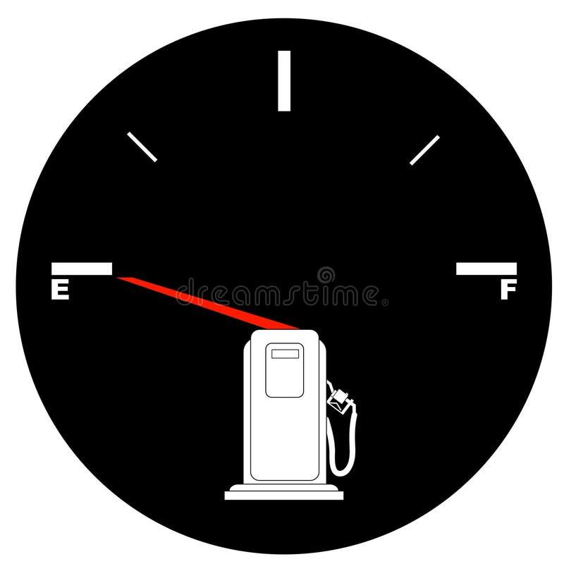 wskaźnik paliwa pusty ilustracji