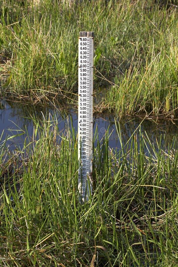wskaźnik pomiaru równej wody obrazy stock