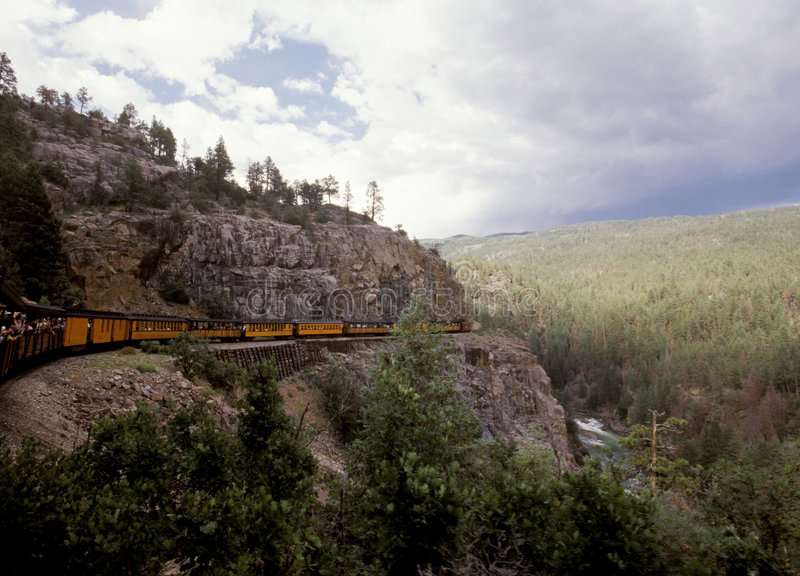 wskaźnik silverton wąskim colorado fotografia royalty free