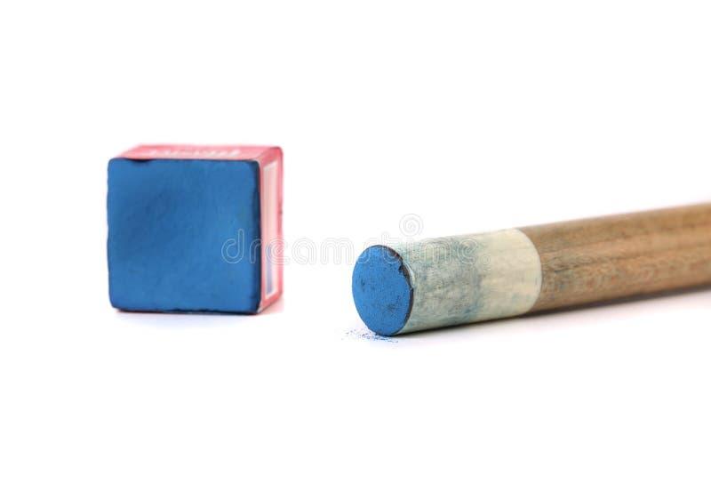 Wskazówka kij z kreda blokiem. obrazy stock