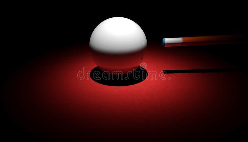 Wskazówki piłka i wskazówka ilustracji
