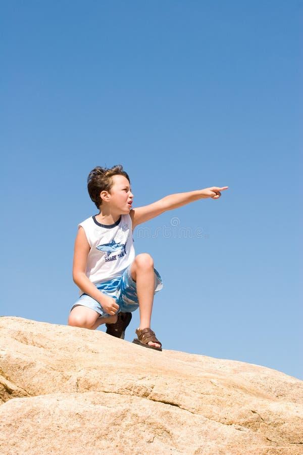 wskazać chłopca zdjęcia royalty free
