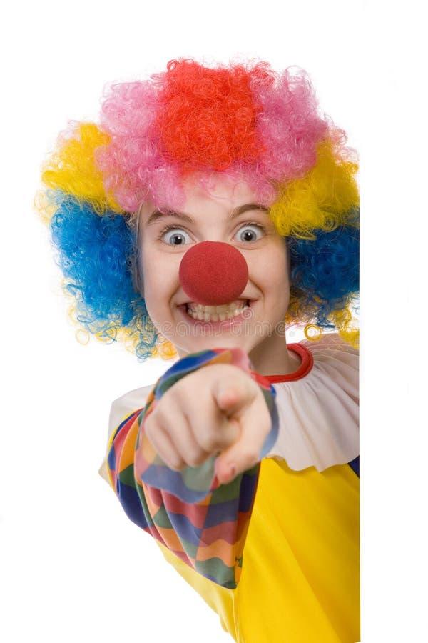 wskazać klaunów fotografia stock