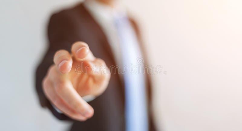 wskazać palcem jego biznesmena ilustracja wektor