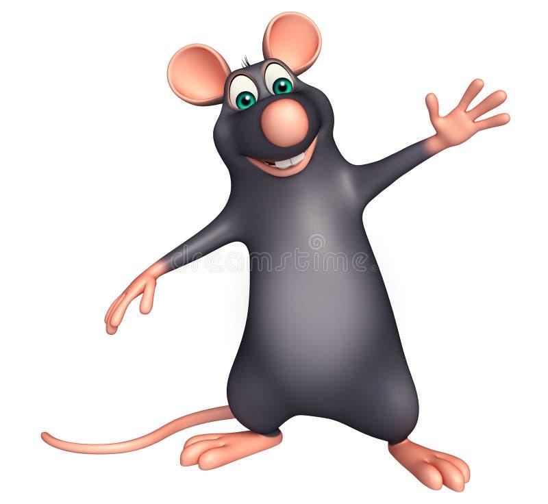 wskazywać szczura postać z kreskówki ilustracja wektor