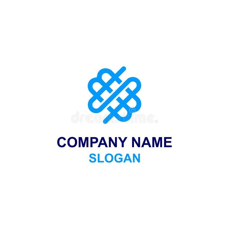 WSM listu inicjału logo ilustracji