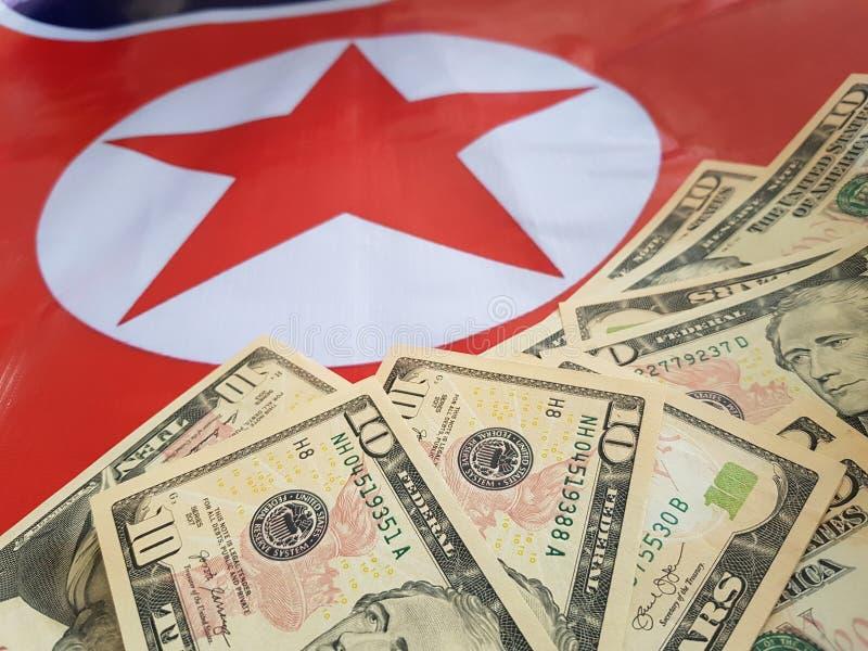 Wspólne przedsięwzięcie inwestycje między koreą północną i Stany Zjednoczone obraz royalty free