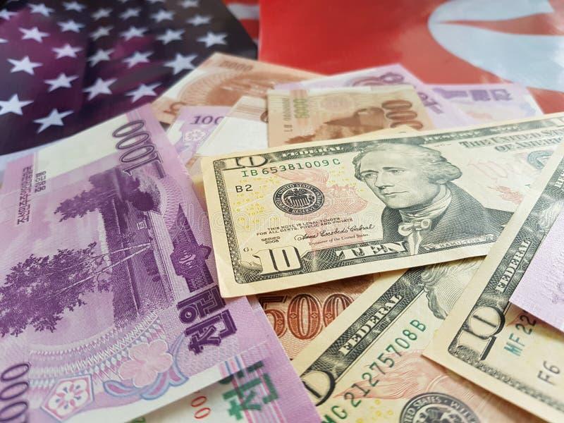 Wspólne przedsięwzięcie inwestycje między koreą północną i Stany Zjednoczone obrazy royalty free