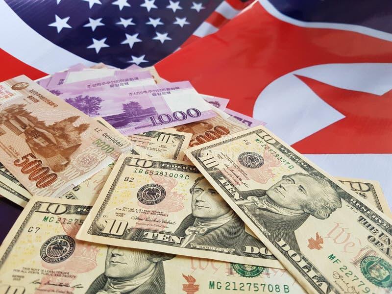 Wspólne przedsięwzięcie inwestycje między koreą północną i Stany Zjednoczone fotografia stock