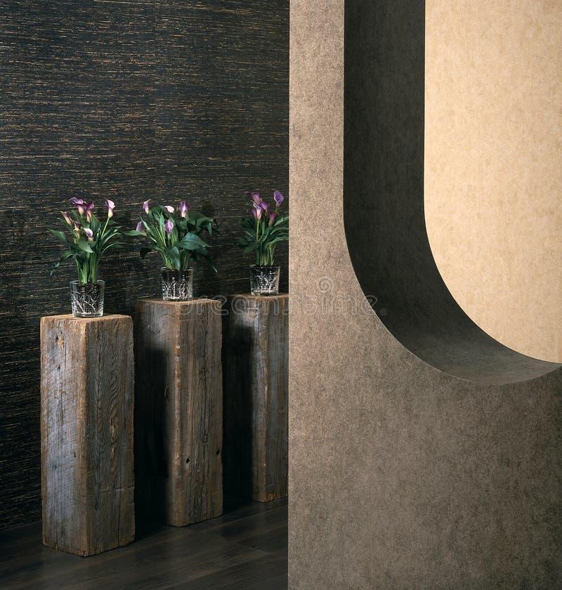 współczesna dekoracji wnętrz wazon domu projektu obrazy stock